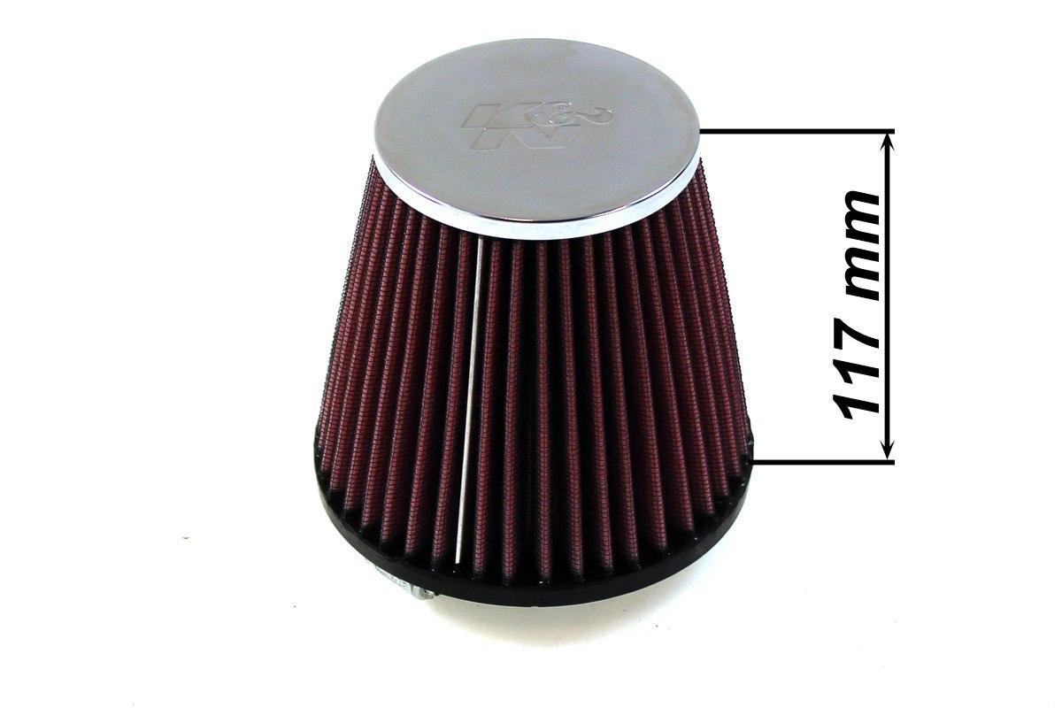 Filtr stożkowy K&N RC-9480 60-77mm - GRUBYGARAGE - Sklep Tuningowy